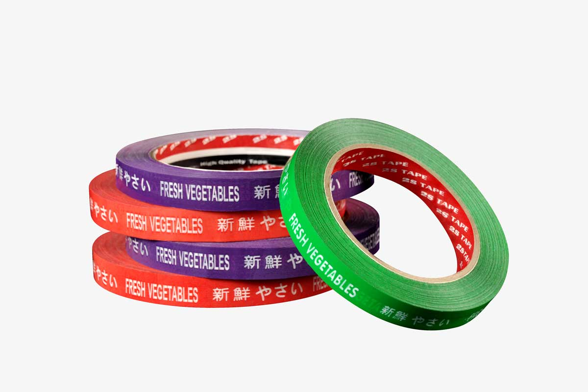Vegetable Tape | Opp Tapes | Safety Tapes | 2S Packaging