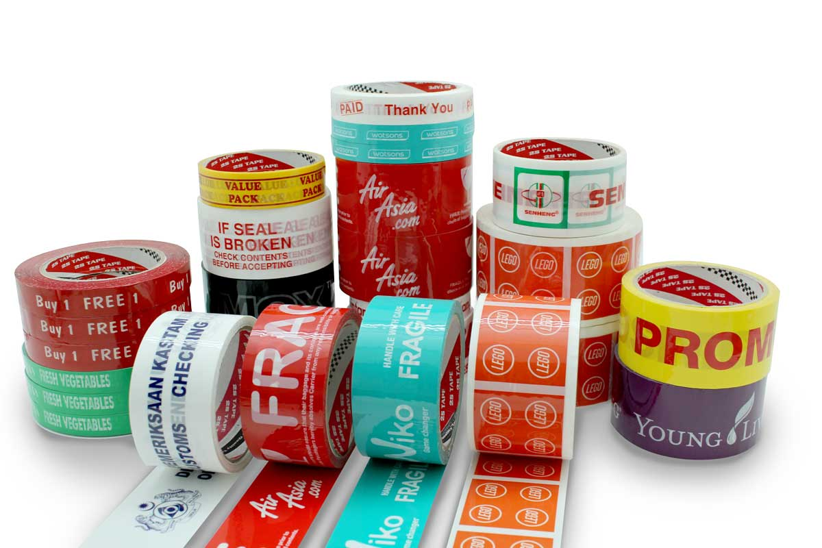 Custom Printed Packing Tape / OPP Tape with your own logo | 2S Packaging